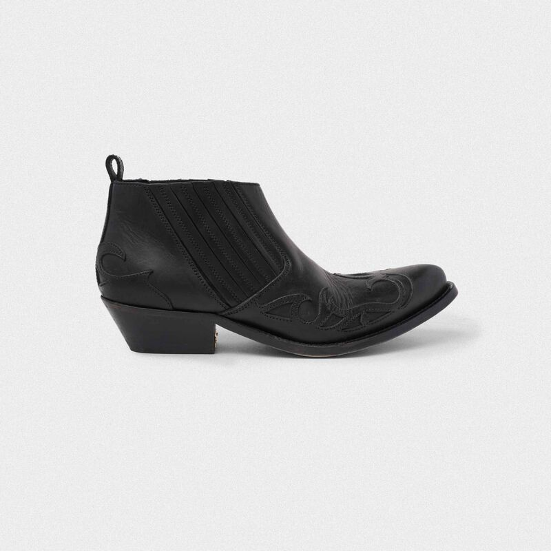 Golden Goose - Santiago Low ankle boots in black leather in  image number null