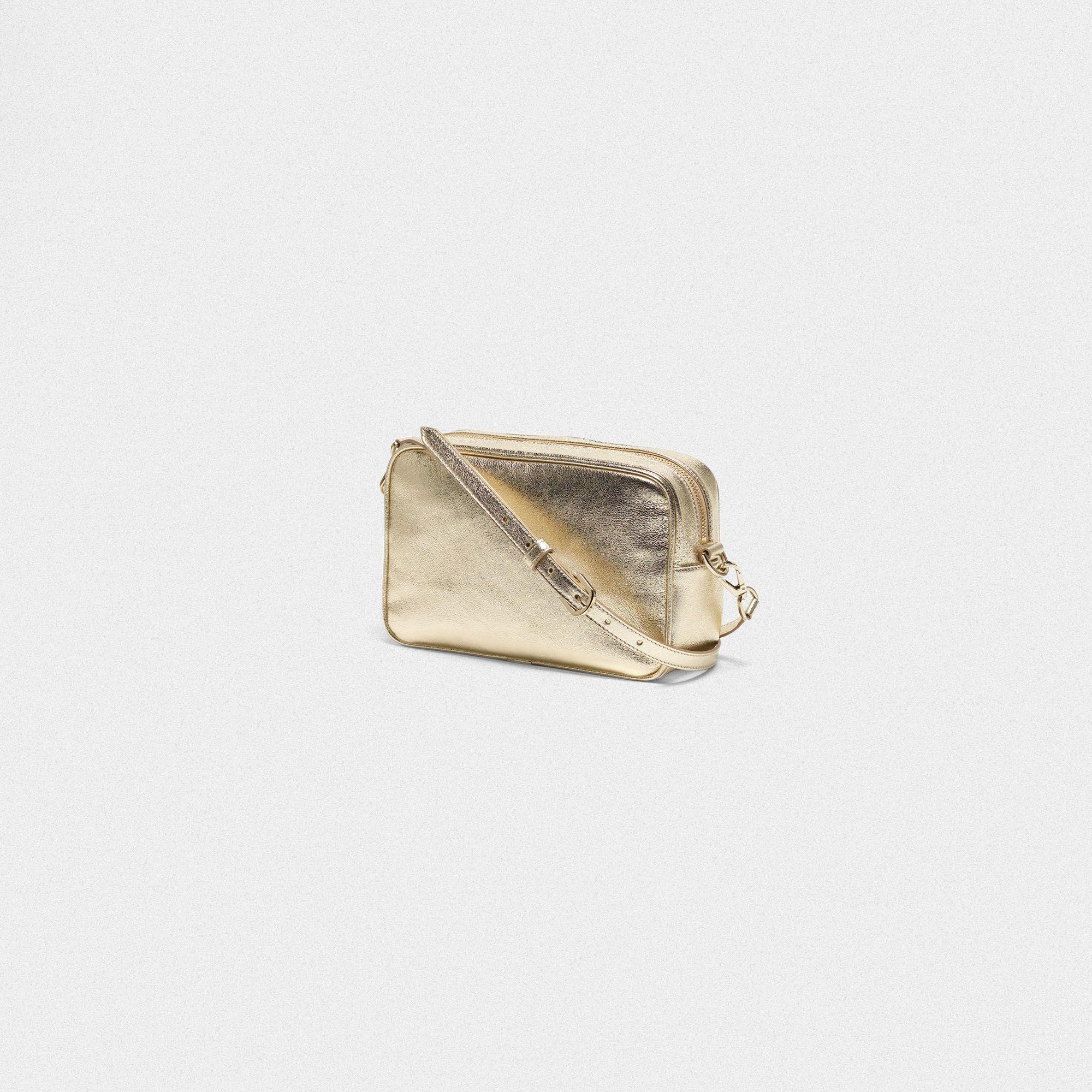 Goldene Tasche Star Bag mit Glassteinchen