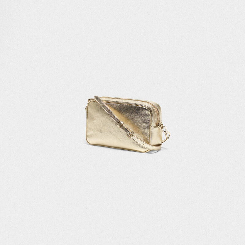 Golden Goose - Borsa Star Bag dorata con cristalli in  image number null