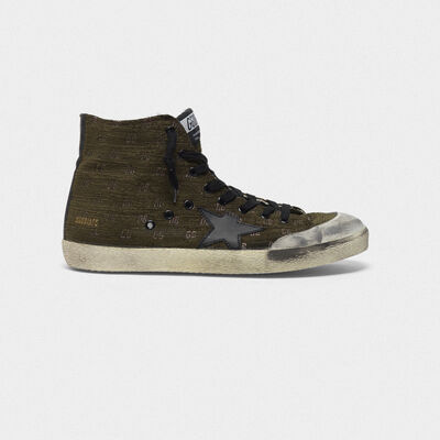 Francy sneakers with logo lettering and all-over lurex