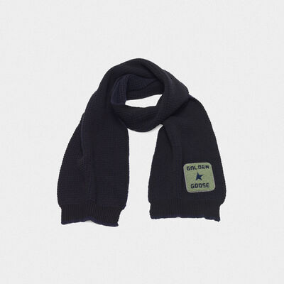 Kei scarf made of extra fine merino wool