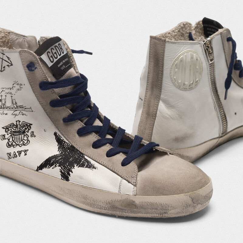 Golden Goose - Francy sneakers in leather with tattoo prints in  image number null