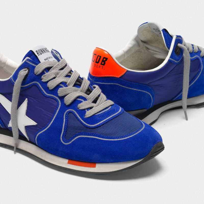 Golden Goose - Sneakers Running blu elettrico con stella bianca in  image number null