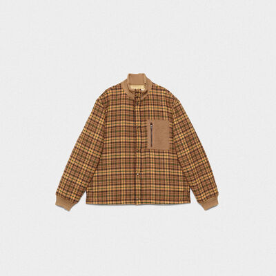 Haru bomber jacket in tweed with patch pocket
