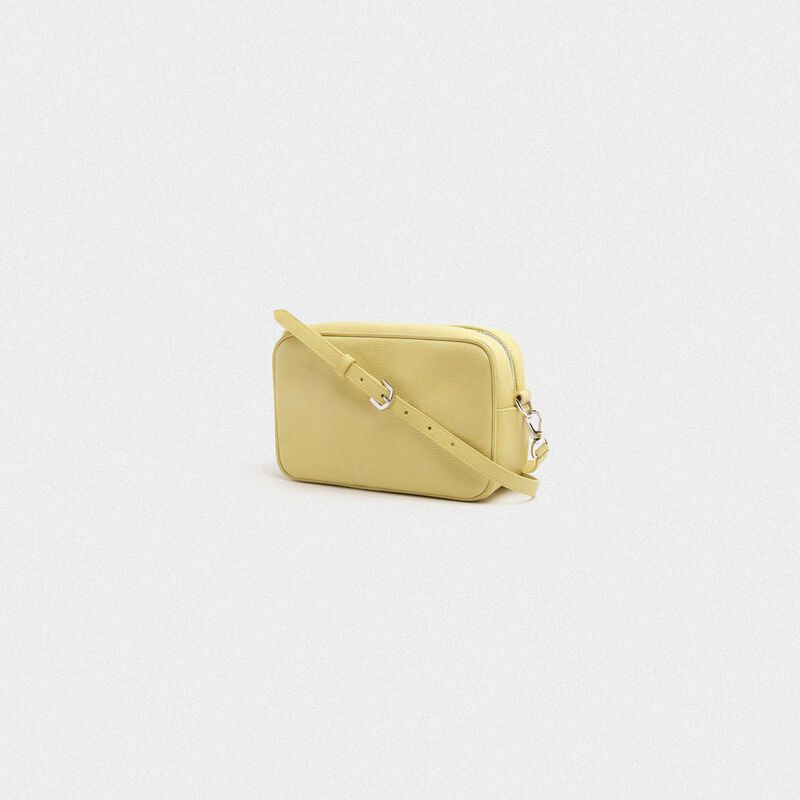 Golden Goose - Yellow Star Bag made of hammered leather in  image number null
