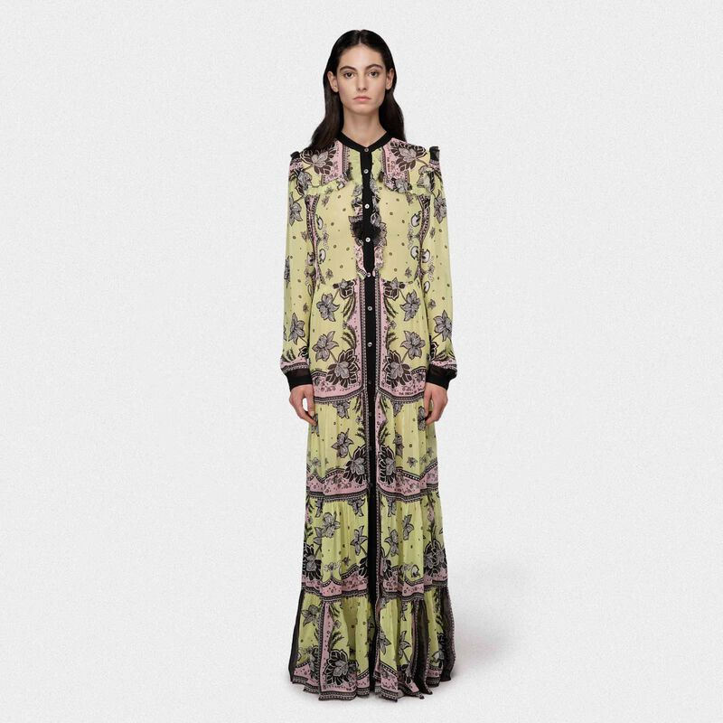 Golden Goose - Ella dress in georgette with floral print in  image number null