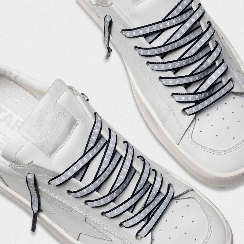 Golden Goose - Men's blue reflective laces with stars in  image number null
