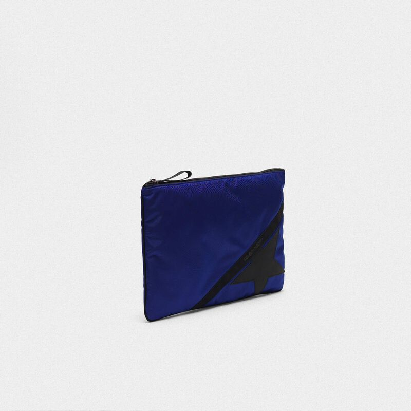 Golden Goose - Pouch Journey large in nylon blu royal in  image number null