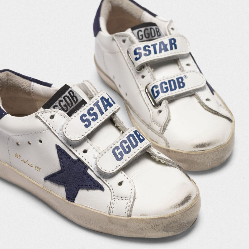 Golden Goose - Old School sneakers with Velcro fastening and navy star in  image number null