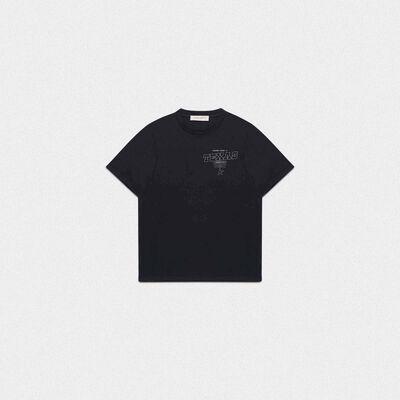 Black Golden T-shirt with Texas print