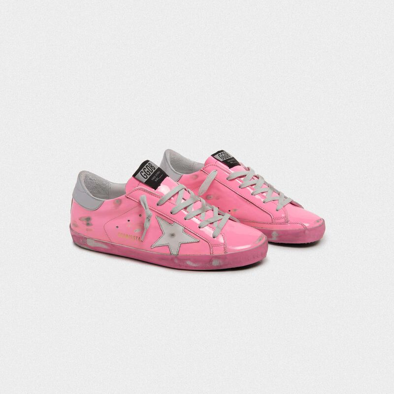 Golden Goose - Sneakers Superstar rosa con talloncino argento in  image number null