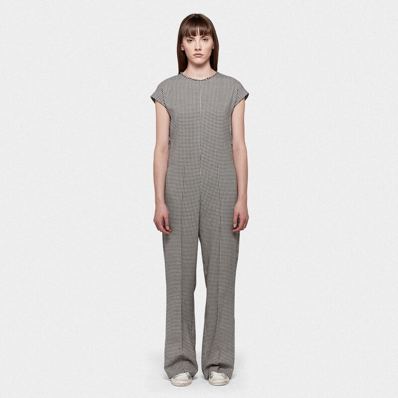 Golden Goose - Narumi jumpsuit in cotton and wool with checked pattern in  image number null