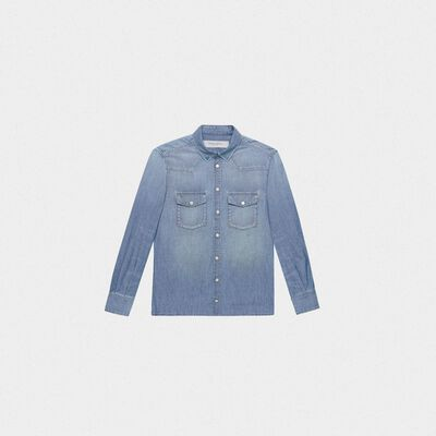 Meredith shirt in cotton denim