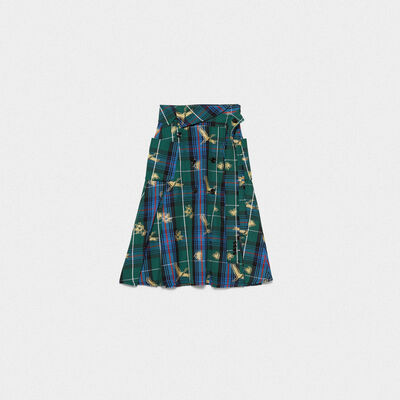Makiko skirt in plumetis tartan