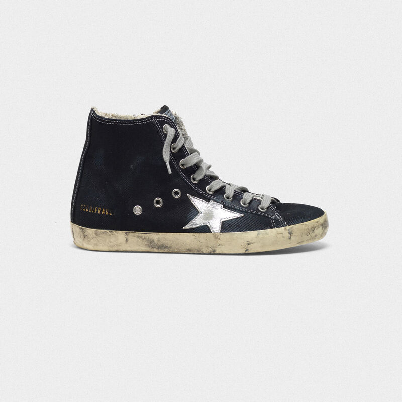 Golden Goose - Sneakers Francy in canvas con stella laminata in  image number null