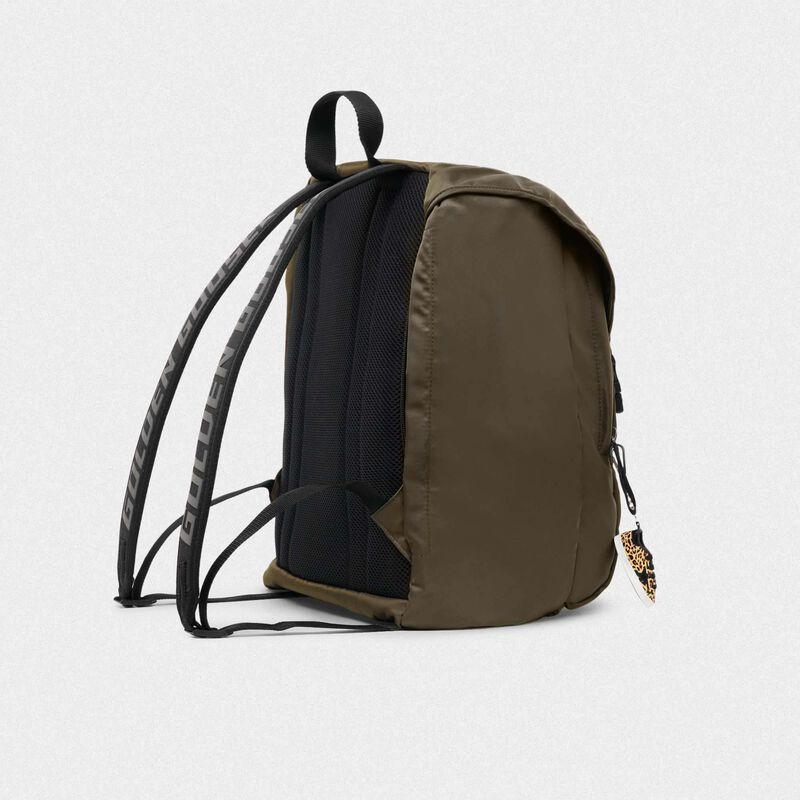 Golden Goose - Olive-green nylon Journey backpack in  image number null