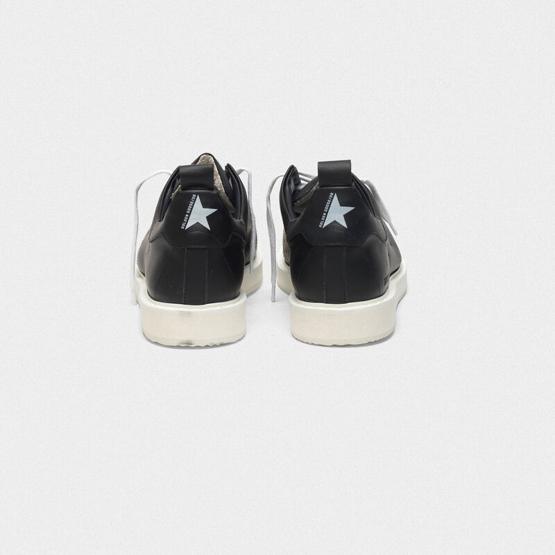 Golden Goose - Starter sneakers in leather with printed star on the heel tab in  image number null