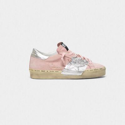 Sneakers Hi Star in nabuk con fascia in foglia di argento
