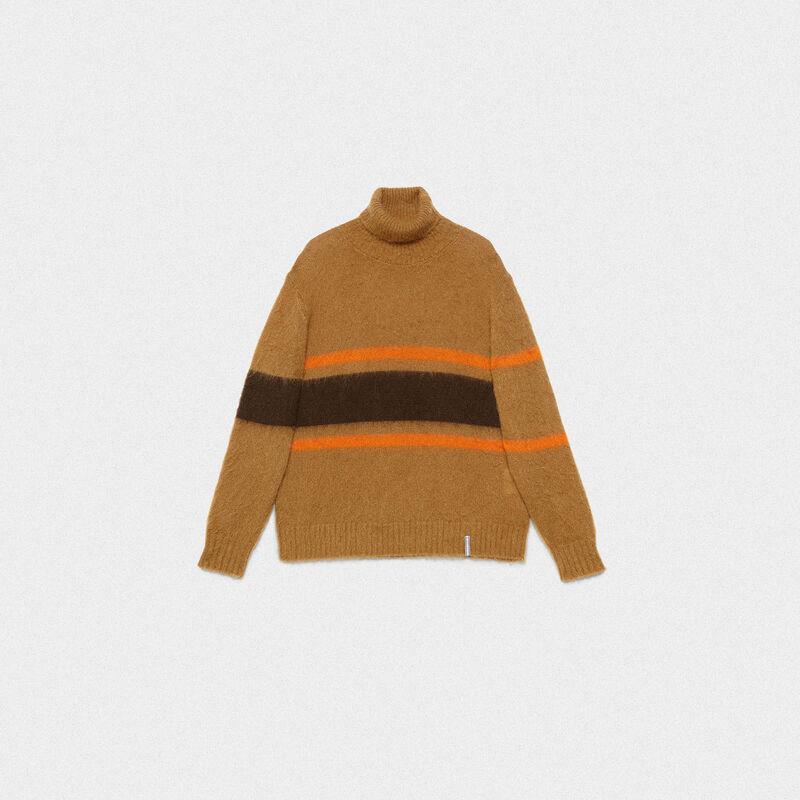 nuova collezione b2a67 5b0d0 Dolcevita Yoshiro in lana garzata con motivo a righe
