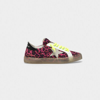 Sneakers May in camoscio e inserti in pelle