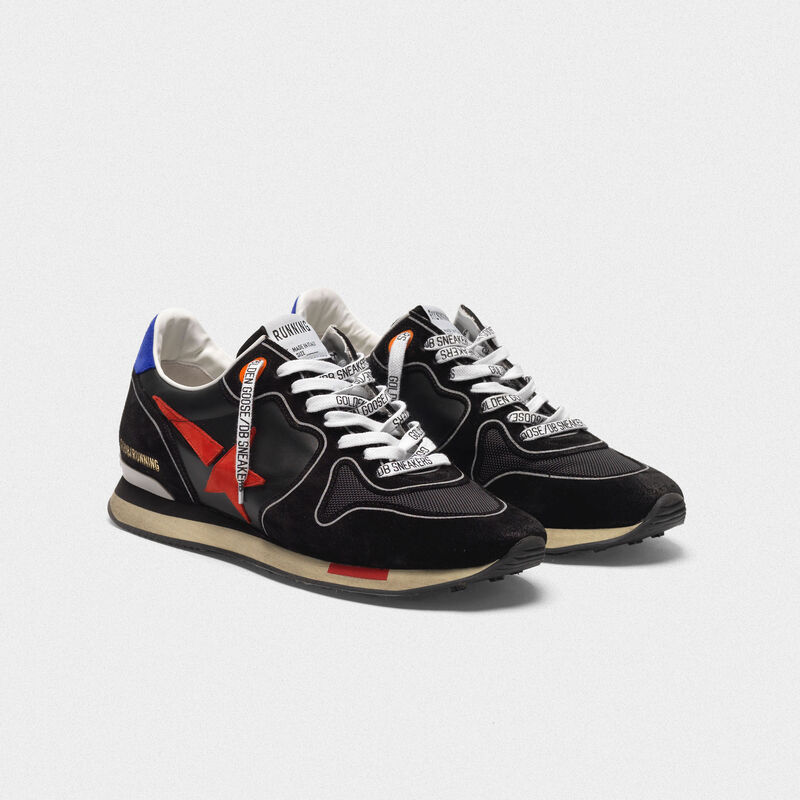 Golden Goose - Sneakers Running nere con stella rossa in  image number null