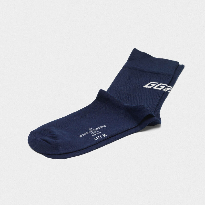 Golden Goose - Yui cotton socks with contrasting logo in  image number null