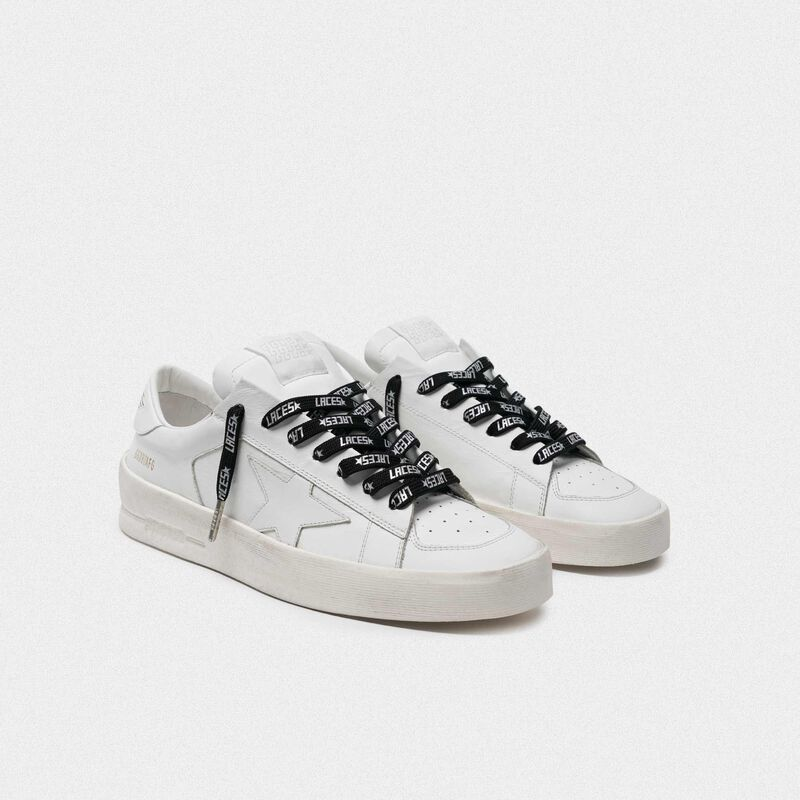Golden Goose - Women's black laces with silver laces print in  image number null