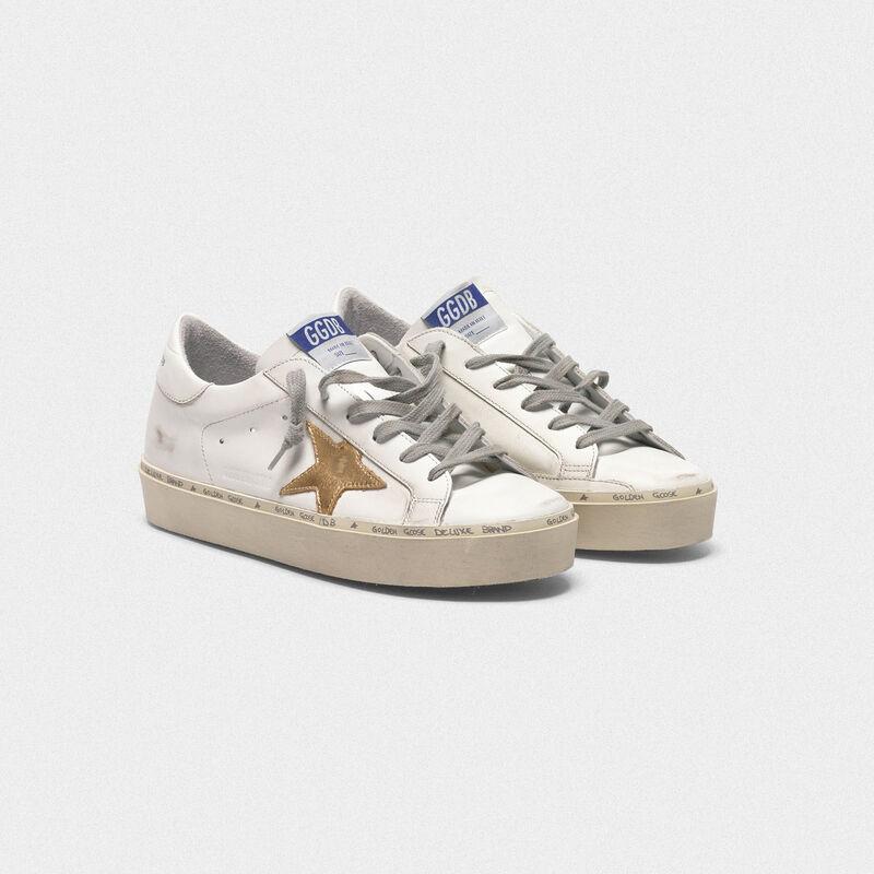 Golden Goose - Sneakers Hi Star in pelle con stella dorata in  image number null