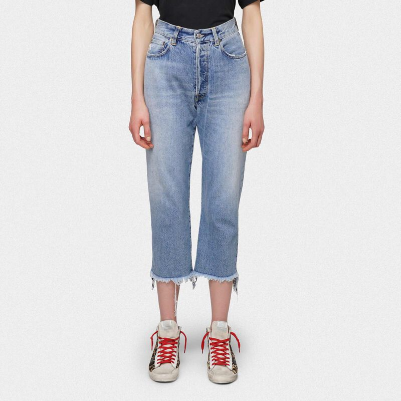Golden Goose - Jeans Texas cropped raw edge in  image number null