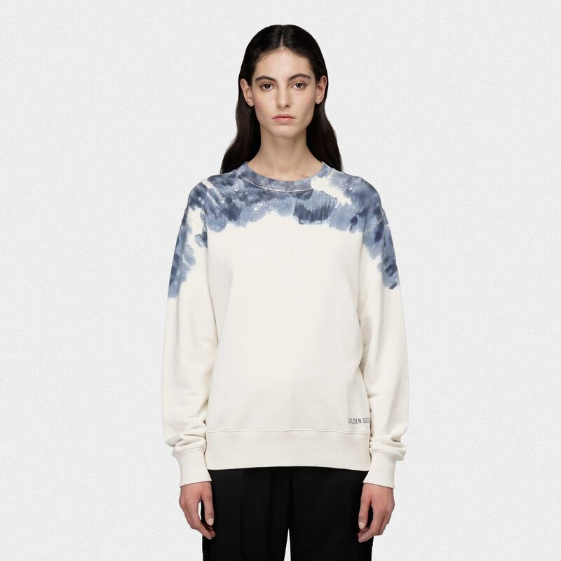 Golden Goose - Sharon round-neck sweatshirt with hand-dyed neckline in  image number null