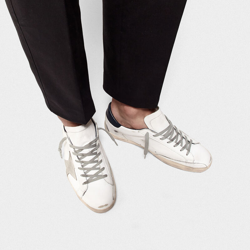 Golden Goose - Sneakers Superstar in pelle con stella camoscio in  image number null