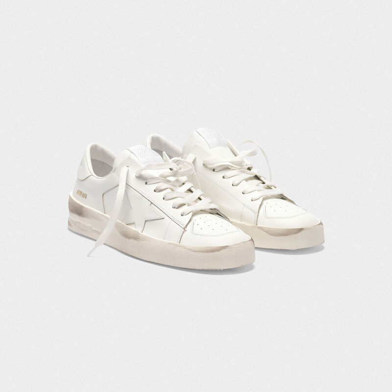 Golden Goose - Sneakers Stardan in pelle total white  in  image number null
