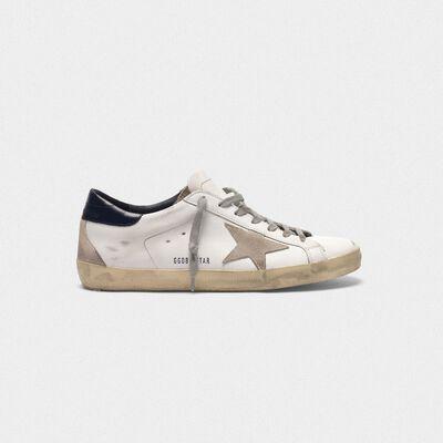 Sneakers Superstar in pelle con stella camoscio