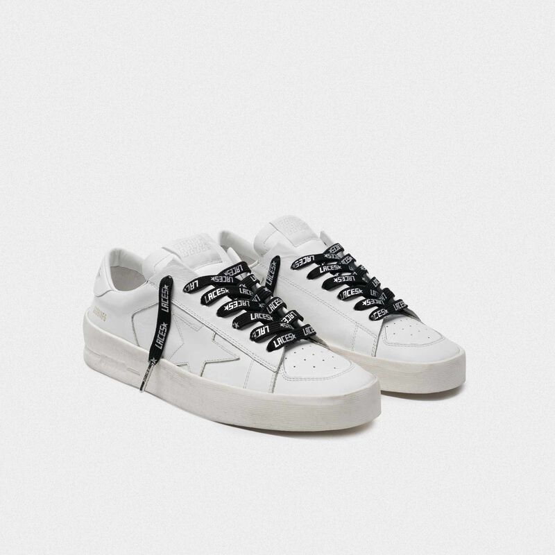 Golden Goose - Men's black laces with silver laces print in  image number null