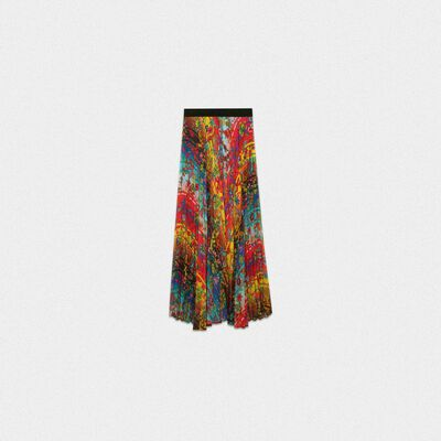 Pleated Kimberly skirt with floral print