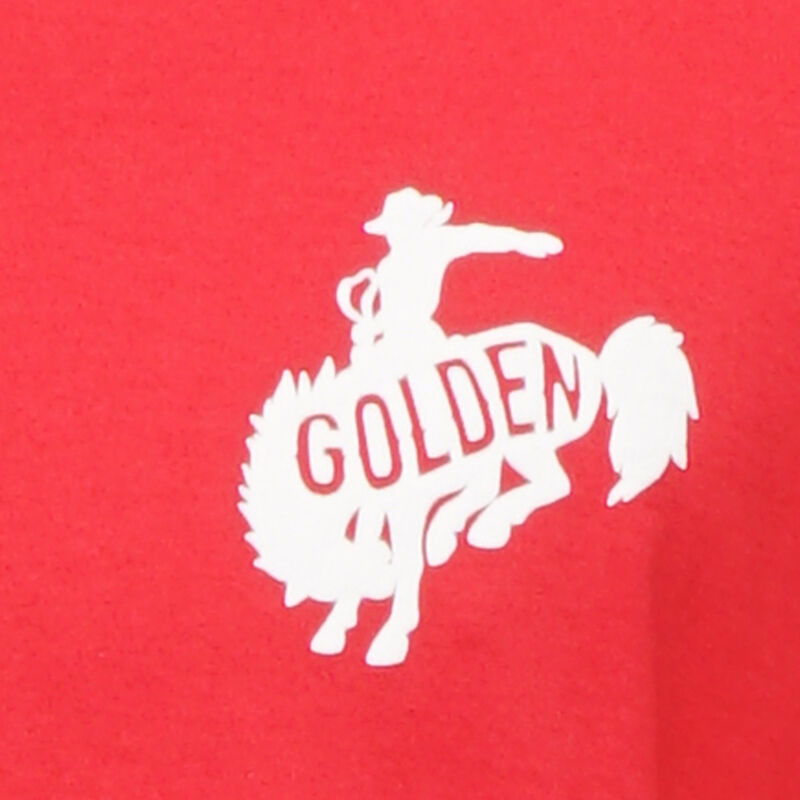 Golden Goose - Red Golden T-shirt with Golden rodeo logo in  image number null