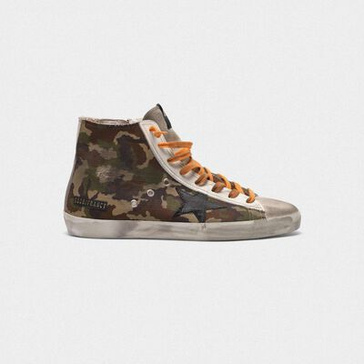 Francy sneakers with pixel camouflage pattern
