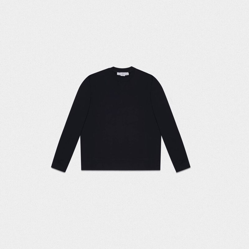 Golden Goose - Black Robbie sweatshirt with Love embroidery in  image number null