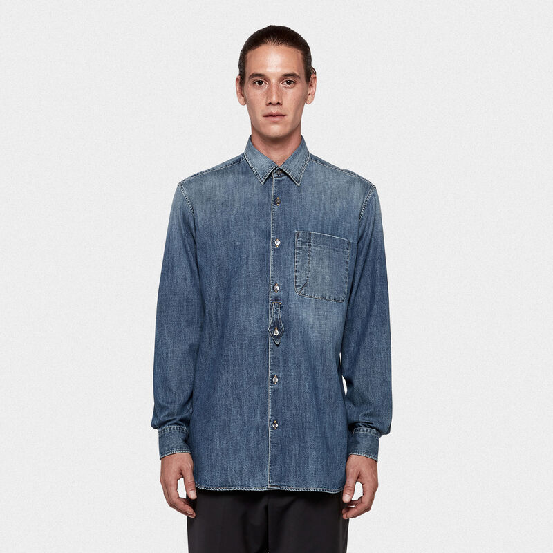 Golden Goose - Kei shirt in cotton denim in  image number null