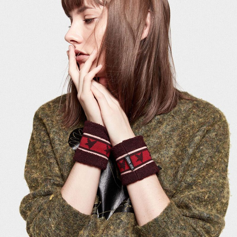 Golden Goose - Yori wristbands in terry stitch with thread embroidery in  image number null