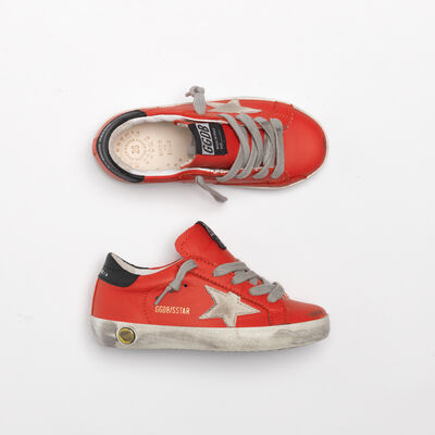 Sneakers Superstar in pelle rosso ciliegia