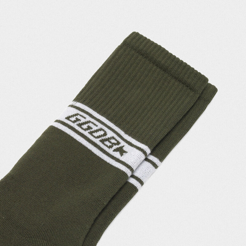 Golden Goose - Short Hideki terry socks with jacquard logo in  image number null