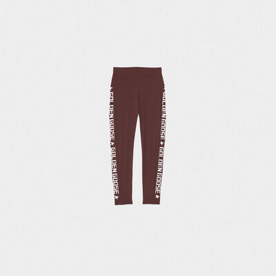 Nori leggings in technical fabric with printed logo