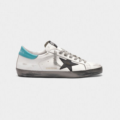 White Superstar sneakers with silver foxing