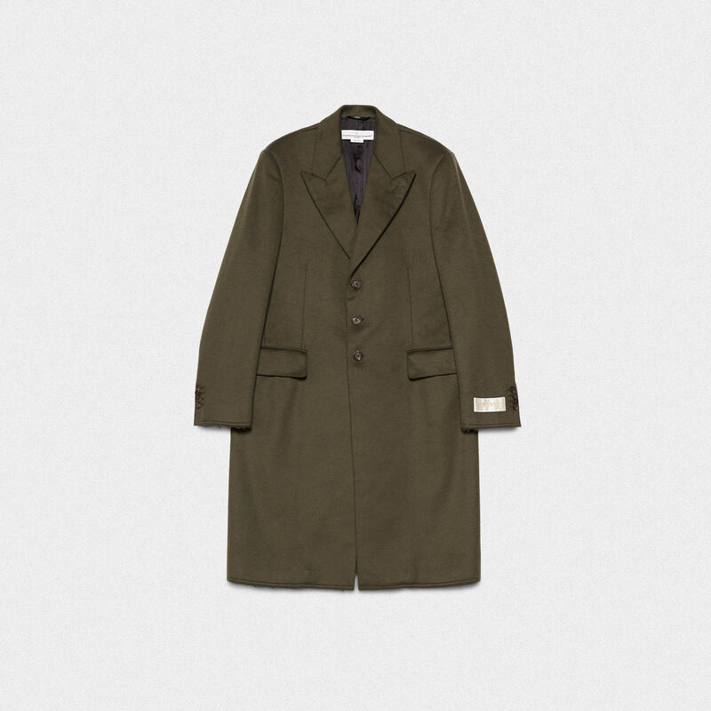 Golden Goose - Yoshio coat in wool blend with classic lapels in  image number null