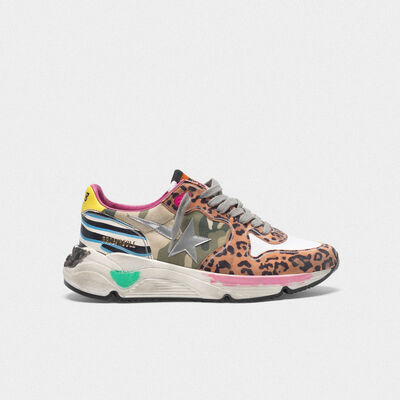 Running Sole sneakers with mixed animal-print upper