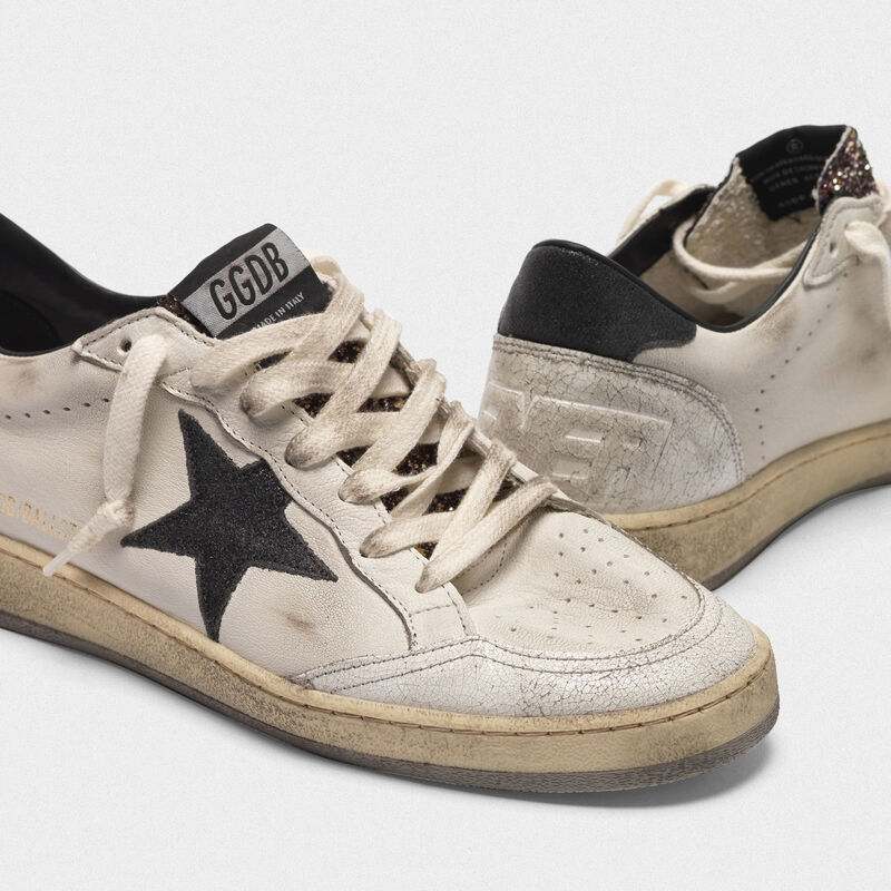 Golden Goose - Ball Star sneakers with glitter tongue in  image number null