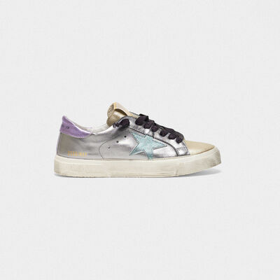 May sneakers in laminated leather