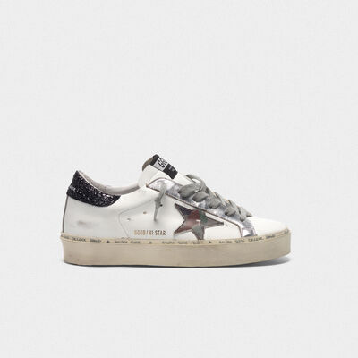 Hi Star sneakers with camouflage star and glittery heel tab