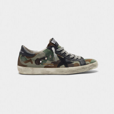 Superstar sneakers with custom-made camouflage pattern